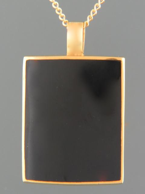 Onyx Pendant - Gold Vermeil - OX438GV