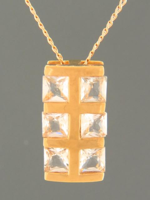 Zircon Pendant - Gold Vermeil - Z428GV