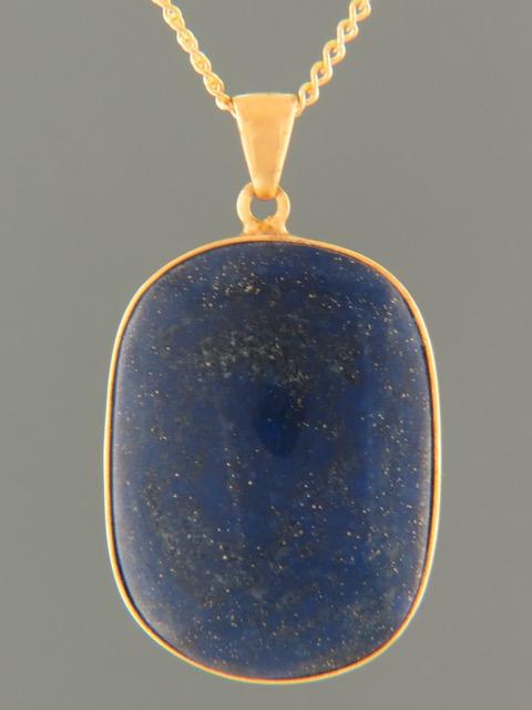 Lapis Lazuli Pendant - Gold Vermeil - LL366GV
