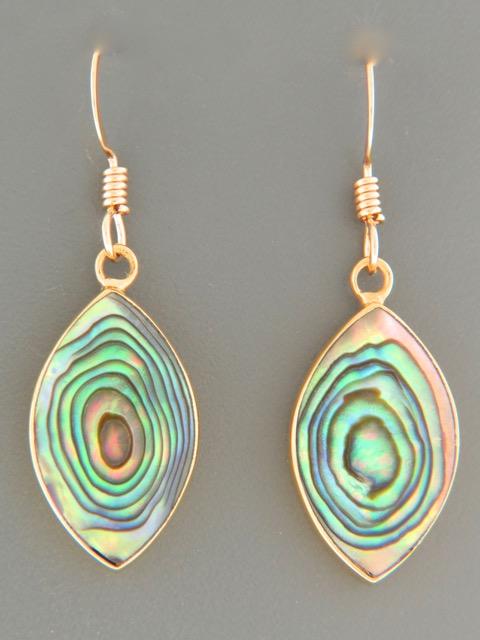 Paua Shell Earrings - Gold Vermeil - PA580GV