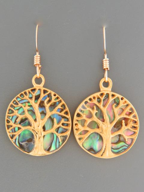 Paua Shell Earrings - Gold Vermeil - PA577GV