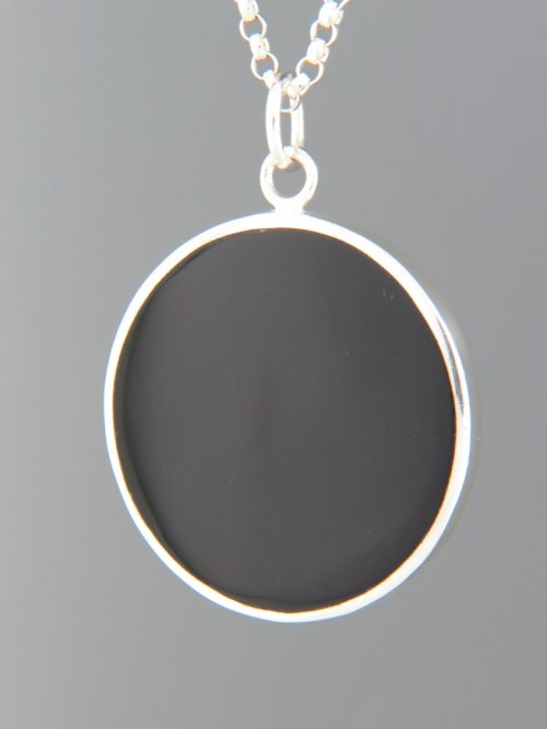 Onyx Pendant - Sterling Silver - OX349