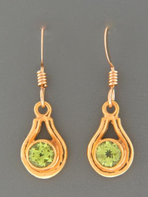 Peridot Earrings - Gold Vermeil - P552GV
