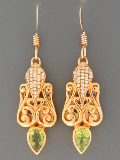 Peridot Earrings - Gold Vermeil - P568GV