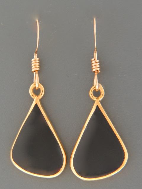 Onyx Earrings - Gold Vermeil - OX500GV