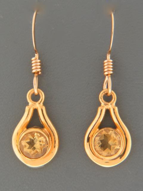 Citrine Earrings - Gold Vermeil - C524GV