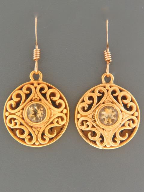 Citrine Earrings - Gold Vermeil - C544GV