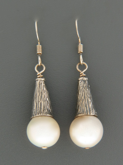 10mm Pacific Pearl Earrings - Sterling Silver - YW10CMS