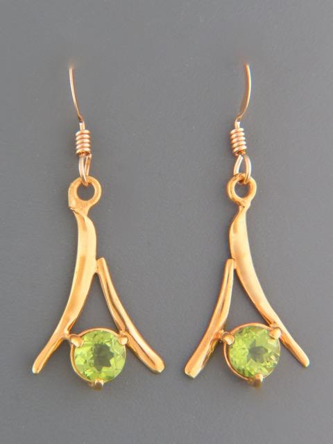 Peridot Earrings - Gold Vermeil - P507GV