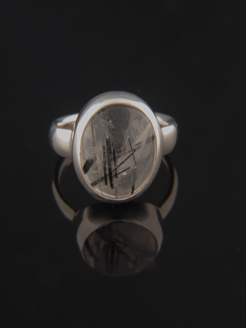 Tourmalinated Quartz Ring - Sterling Silver - TQZ103R