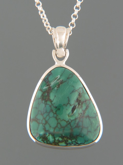 Turquoise Pendant - Sterling Silver - TQ302