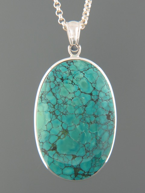 Turquoise Pendant - Sterling Silver - TQ311