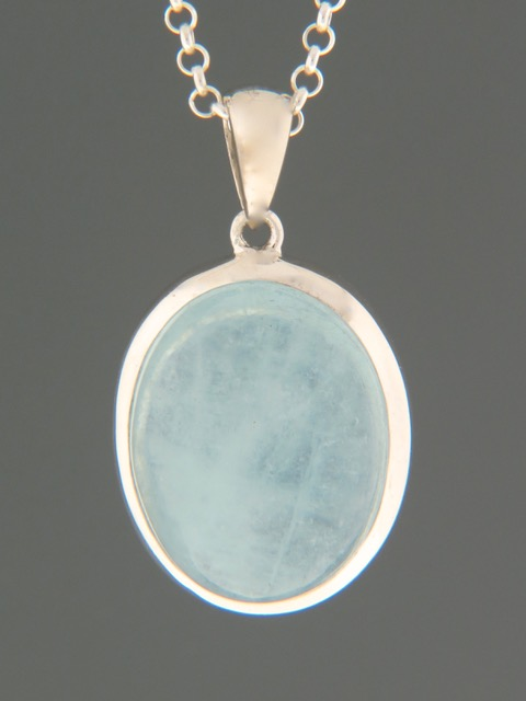 Aquamarine Pendant - Sterling Silver - AQ309