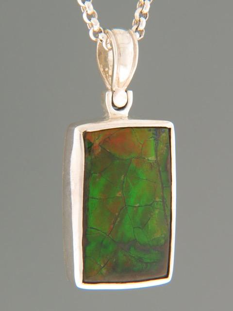 Ammolite Pendant - Sterling Silver - X307