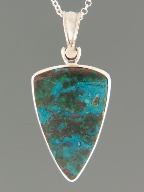 Chrysocolla Pendant - Sterling Silver - CHR307