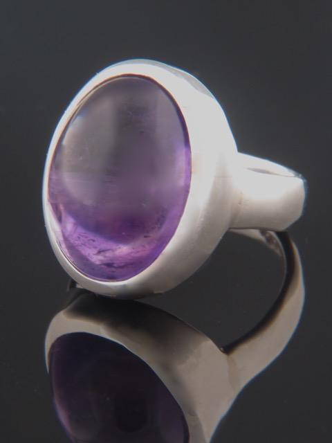 Amethyst Ring - Sterling Silver - A101R