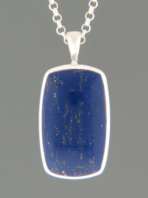 Lapis Lazuli Pendant - Sterling Silver - LL304