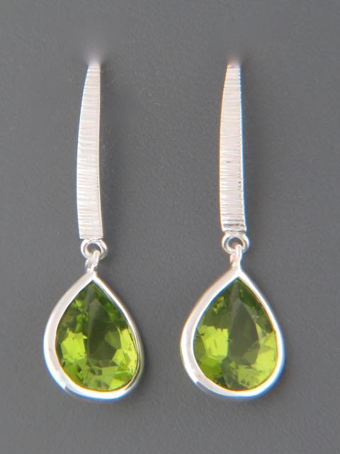 Peridot Earrings - Sterling Silver - P511