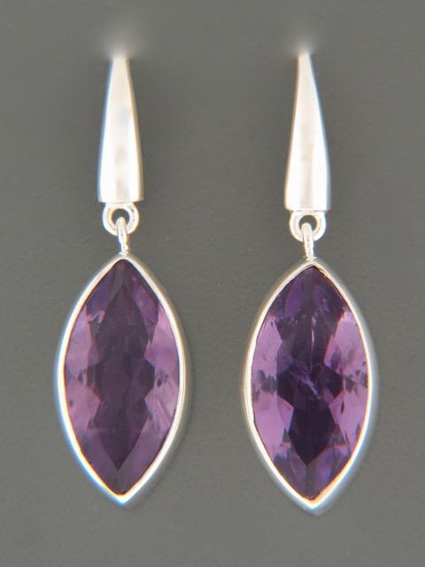 Amethyst Earrings - Sterling Silver - A506