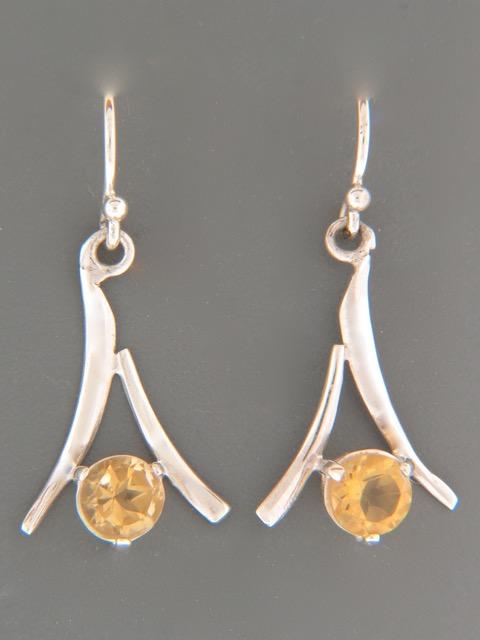 Citrine Earrings - Sterling Silver - C502