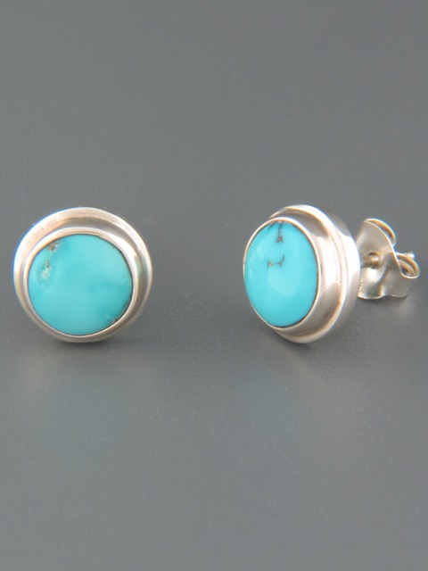 Turquoise Earrings - Sterling Silver stud - TQ504
