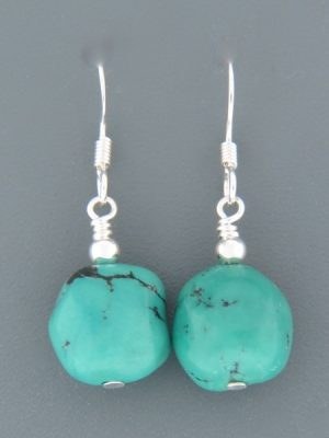 Turquoise Earrings - Sterling Silver - TQ534