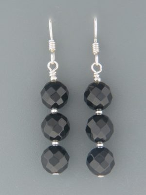 Onyx Earrings - Sterling Silver - OX503