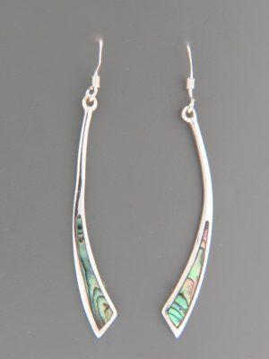 Paua Shell Earrings - Sterling Silver - PA559