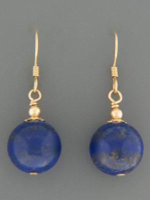 Lapis Lazuli Earrings - 14ct Gold Filled - 12mm stones - LL503G