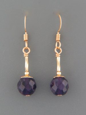 Amethyst Earrings - 14ct Gold Filled - A596G