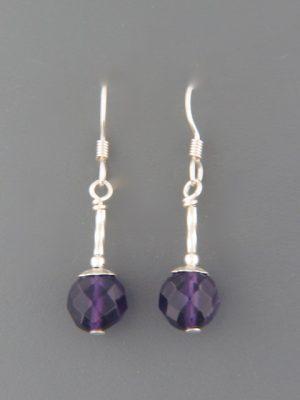 Amethyst Earrings - Sterling Silver - A596