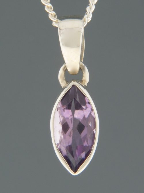 Amethyst Pendant - Sterling Silver - A347
