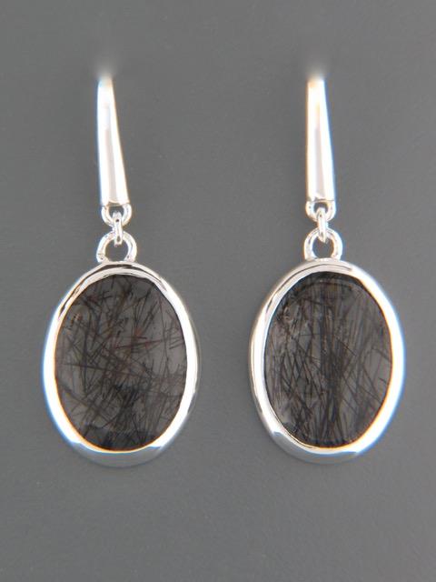 Tourmalinated Quartz Earrings - Sterling Silver - TQZ500