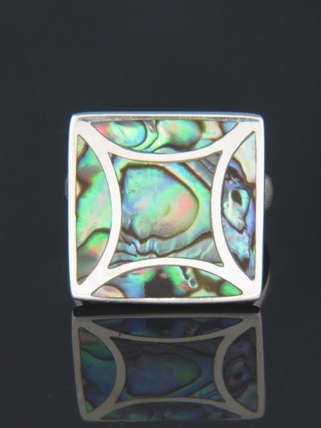 Paua Shell Ring - Sterling Silver - PA102R