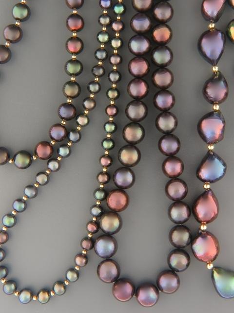 Dark Pearl Necklaces