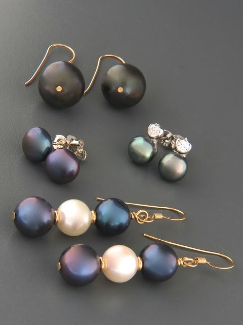 Dark Pearl Earrings