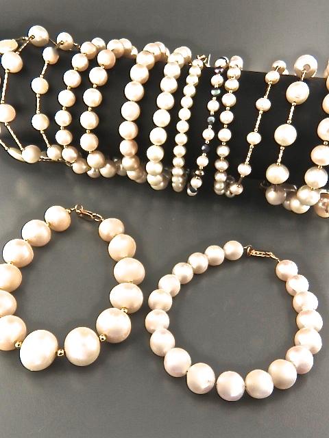 White & Pink Pearl Bracelets