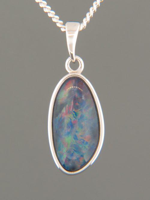 Opal Pendant - Sterling Silver - OP301