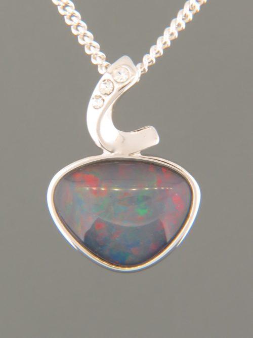 Opal Pendant - Sterling Silver - OP302