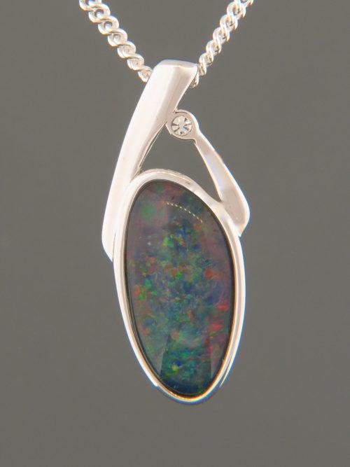 Opal Pendant - Sterling Silver - OP303
