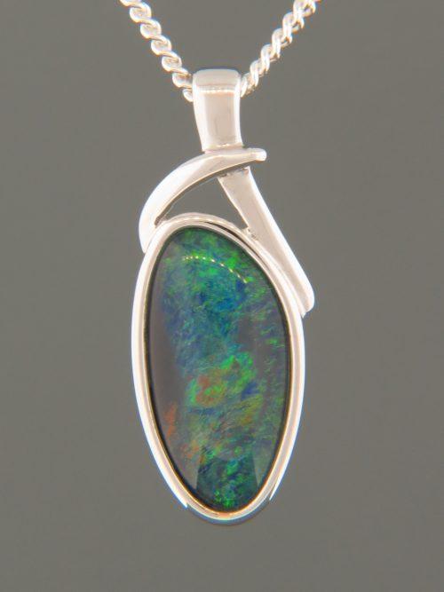 Opal Pendant - Sterling Silver - OP304