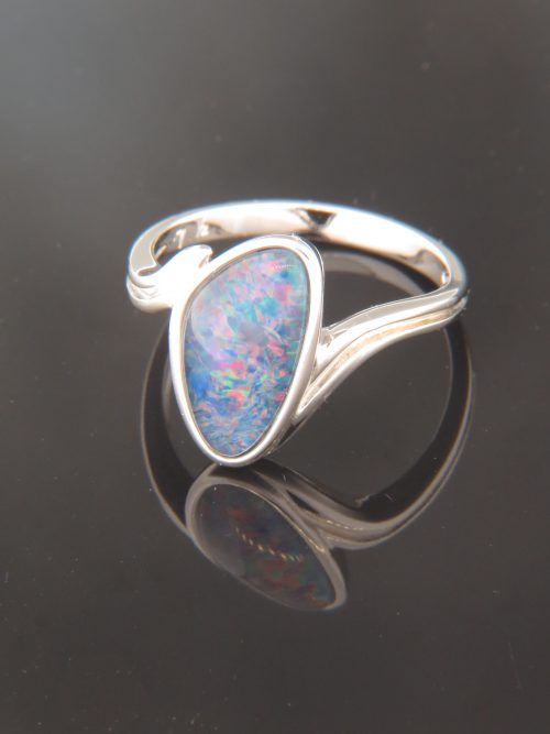 Opal Ring - Sterling Silver - OP105R