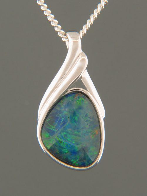 Opal Pendant - Sterling Silver - OP306