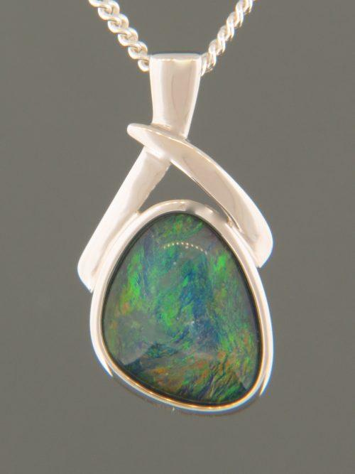 Opal Pendant - Sterling Silver - OP322