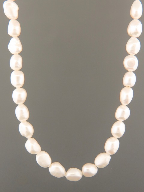 Baroque Pearl Necklace - 8 x 10mm Pearls - YWBQN