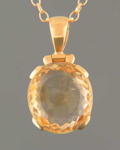 Citrine Pendant -  Gold Vermeil - C304AGV