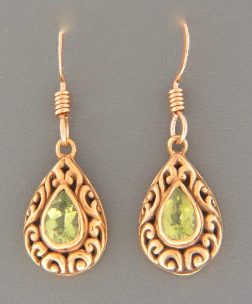 Peridot Earrings - Gold Vermeil - P554GV