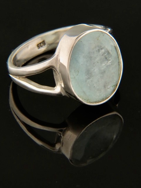 Aquamarine Ring - Sterling Silver - AQ105R