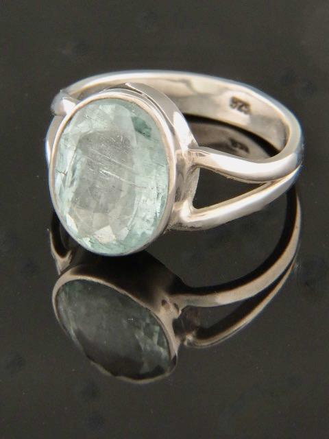 Aquamarine Ring - Sterling Silver - AQ115R