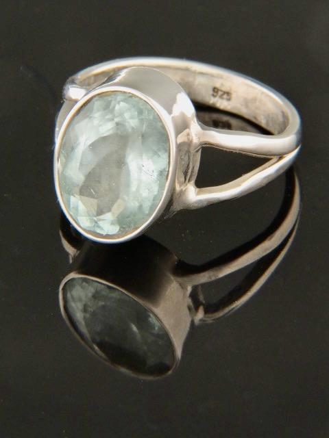 Aquamarine Ring - Sterling Silver - AQ120R